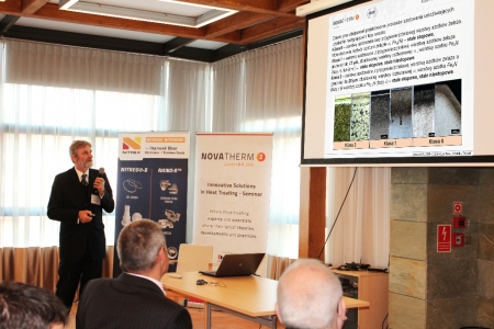 "Jerzy Michalski of the Institute of Precision Mechanics presented ""Monitoring the growth of layers in nitriding processes – Nitran project"""