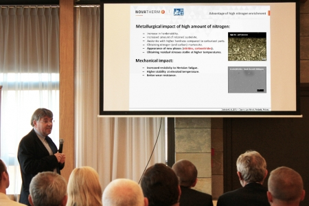 "Jens Baumann of Process-Electronic, a member of United Process Controls, presented ""High nitrogen carbonitriding – Improving energy efficiency of power train components"""