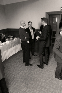 Delegates networking at the Novatherm seminar