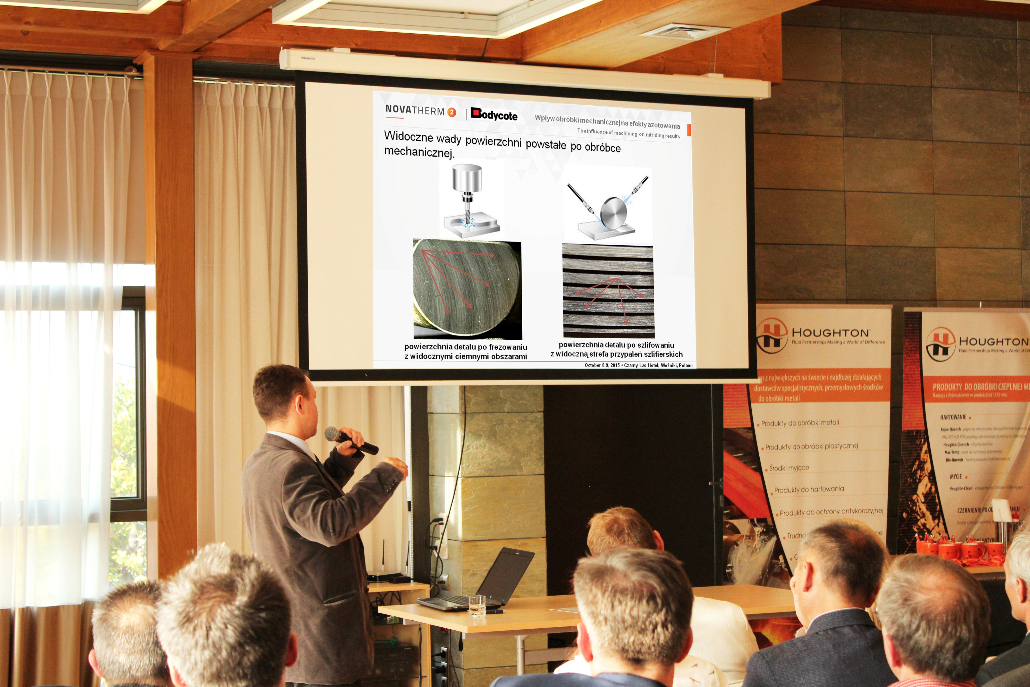"Jakub Jasiński of Bodycote AGI NEE presented ""The influence of machining on nitriding results"""