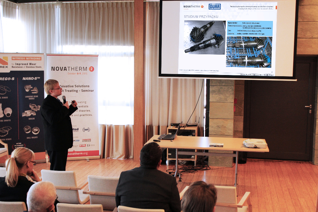 "Damian Sputo of Schenck RoTec - Dürr Ecoclean presented ""Cleaning technologies in the heat treatment industry"""